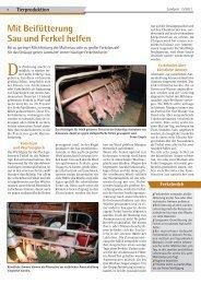 Mit Beifütterung Sau und Ferkel helfen - Dr. Neinhaus Verlag AG