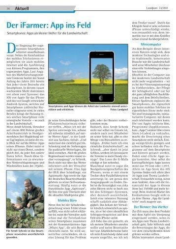 Der iFarmer: App ins Feld - Dr. Neinhaus Verlag AG