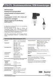 CTX-CTL Druckmessumformer, OEM-Anwendungen