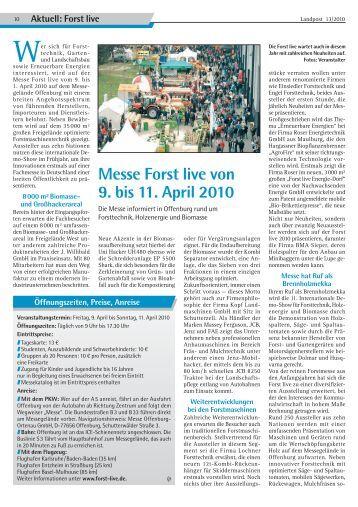 2010-13_Messe Forst live in Offenburg.pdf - Dr. Neinhaus Verlag AG