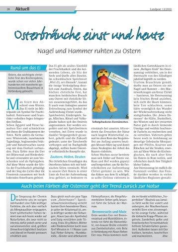 2010-13_Osterbraeuche einst und heute.pdf - Dr. Neinhaus Verlag AG
