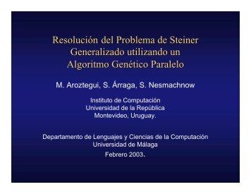 Resolución del Problema de Steiner Generalizado utilizando - NEO ...