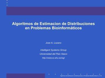 Algoritmos de Estimación de Distribuciones en problemas ... - NEO