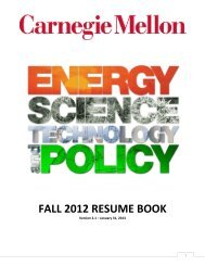 FALL 2012 RESUME BOOK - Materials Science and Engineering ...