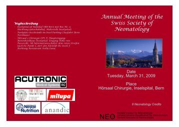 Annual Meeting of the Swiss Society of Neonatology