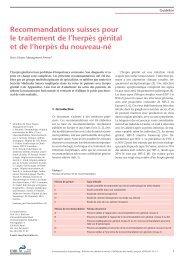 Recommandations suisses pour le traitement de l'herpès génital et ...