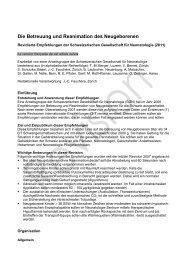 Die Betreuung und Reanimation des Neugeborenen - Swiss Society ...