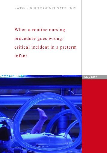 When a routine nursing procedure goes wrong - Swiss Society of ...