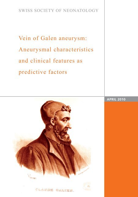 Vein of Galen aneurysm: Aneurysmal characteristics and clinical ...