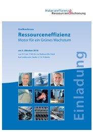 Konferenzflyer A4 - Netzwerk Ressourceneffizienz