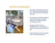 Neonatal encephalopathy