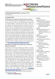 Newsletter 1/2010 - Netzwerk Ressourceneffizienz