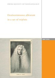 Oculocutaneous albinism in a set of triplets - Swiss Society of ...