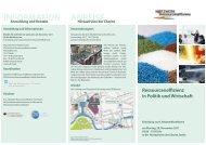Konferenzflyer - Netzwerk Ressourceneffizienz