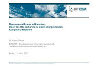 Ressourceneffizienz in Branchen - Netzwerk Ressourceneffizienz