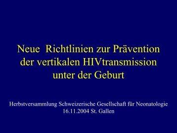 Prävention der HIV infektion in der Schwangerschaft