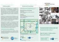 Veranstaltungsflyer - Netzwerk Ressourceneffizienz
