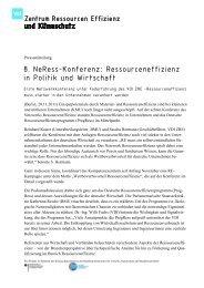 Pressemitteilung - Netzwerk Ressourceneffizienz