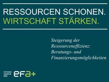 Steigerung der Ressourceneffizienz: Beratungs - Netzwerk ...