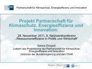 Die Partnerschaft für Klimaschutz, Energieeffizienz und Innovation ...