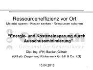 Energie- und Kosteneinsparung durch Ausschussminimierung
