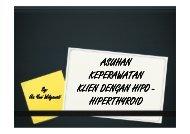 ASKEP HIPO-HIPERTHYROID - Fakultas Keperawatan - Unair