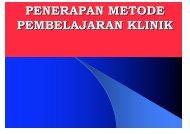penerapan metode pembelajaran klinik - Fakultas Keperawatan ...