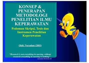 konsep & penerapan metodologi penelitian ilmu keperawatan