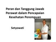 Peran perawat dalam pelayanan kesehatan reproduksi - Fakultas ...
