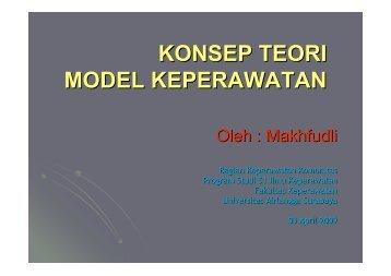 3a. KONSEP-TEORI-MODEL - Fakultas Keperawatan - Unair