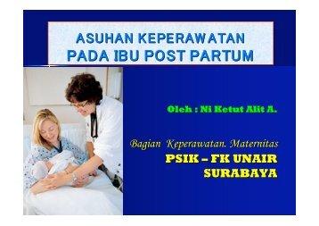 Askep Post Partum Alit - Fakultas Keperawatan - Unair