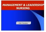 MANAGEMENT & LEADERSHIP - Fakultas Keperawatan - Unair