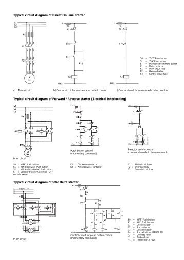 Typical    circuit       diagram    of Direct On Line starter  Nesam
