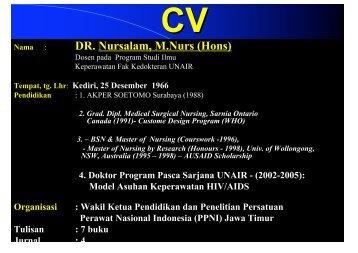 DR. Nursalam, M.Nurs (Hons) - Fakultas Keperawatan - Unair