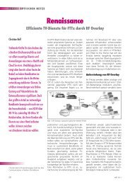 Renaissance Effiziente TV-Dienste für FTTx durch RF Overlay - NET