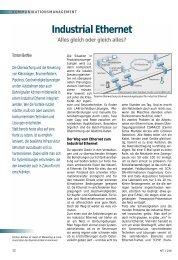 Industrial Ethernet - NET - Zeitschrift für Kommunikationsmanagement