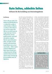 Gute Seiten, schlechte Seiten Software für die Erstellung von ... - NET