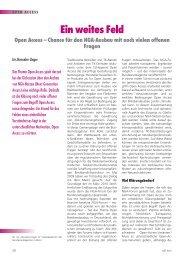 Ein weites Feld Open Access – Chance für den NGA-Ausbau mit ...