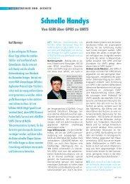 Schnelle Handys Von GSM über GPRS zu UMTS - NET
