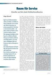Raum für Service - NET - Zeitschrift für Kommunikationsmanagement