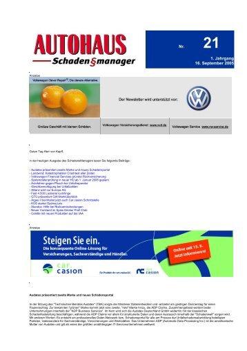 Nr. 1. Jahrgang 16. September 2005 - Net.casion AG