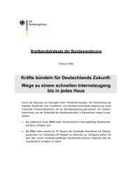 Breitbandstrategie der Bundesregierung - NET