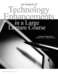 An Analysis of Technology Enhancements in a Large ... - Educause