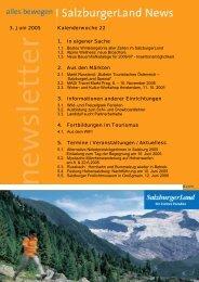 Nummer 22/2005 - SalzburgerLand Netoffice