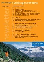 Nummer 13/2005 - SalzburgerLand Netoffice