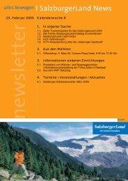 Nummer 8/2005 - SalzburgerLand Netoffice
