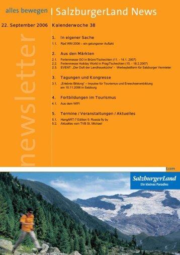 22. September 2006 Kalenderwoche 38 - SalzburgerLand Netoffice