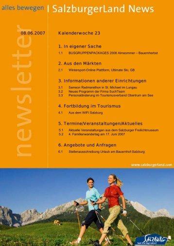 3. Informationen anderer Einrichtungen 4. Fortbildung im Tourismus
