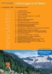 9. September 2005 Kalenderwoche 36 - SalzburgerLand Netoffice