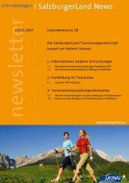 Nummer 18/2007 - SalzburgerLand Netoffice